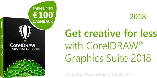 Corel DRAW® Graphics Suite 2018 Cashback Campaign