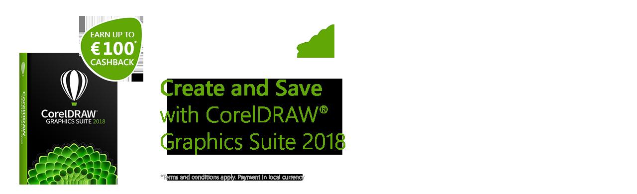 Corel DRAW® Graphics Suite 2018 Cashback Campaign